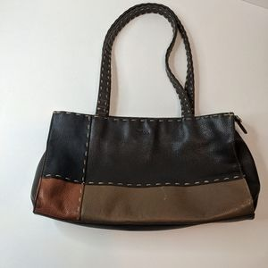 The SAK Brown Tan Stitched Purse Bag Tote Y